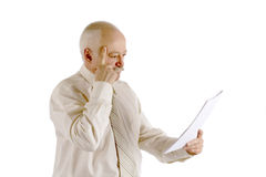Επιχειρηματίας με το έγγραφο σε ένα χέρι Στοκ Εικόνες
