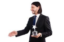 Επιχειρηματίας με το βραβείο αστεριών Στοκ Εικόνα