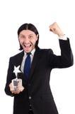 Επιχειρηματίας με το βραβείο αστεριών Στοκ Φωτογραφία