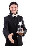 Επιχειρηματίας με το βραβείο αστεριών Στοκ εικόνες με δικαίωμα ελεύθερης χρήσης