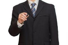 Επιχειρηματίας με το δείκτη στοκ εικόνα