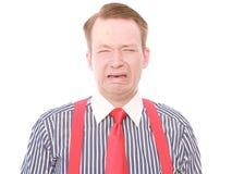 Επιχειρηματίας με το δευτερεύον τραύμα στο κεφάλι (φωνάζοντας έκδοση) Στοκ φωτογραφία με δικαίωμα ελεύθερης χρήσης