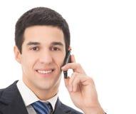 Επιχειρηματίας με το κινητό τηλέφωνο Στοκ φωτογραφία με δικαίωμα ελεύθερης χρήσης