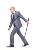Επιχειρηματίας με το ξίφος Στοκ φωτογραφία με δικαίωμα ελεύθερης χρήσης