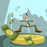 Επιχειρηματίας με το δολάριο διανυσματική απεικόνιση