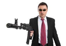 Επιχειρηματίας με το πυροβόλο όπλο Στοκ φωτογραφία με δικαίωμα ελεύθερης χρήσης