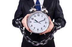 Επιχειρηματίας με το ρολόι που απομονώνεται Στοκ Εικόνα