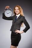 Επιχειρηματίας με το ρολόι Στοκ Φωτογραφία