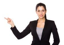 Επιχειρηματίας με το σημείο δάχτυλων επάνω Στοκ Εικόνα