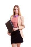 Επιχειρηματίας με το φάκελλο στα χέρια Στοκ Φωτογραφία