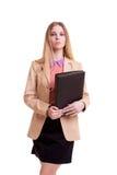 Επιχειρηματίας με το φάκελλο στα χέρια Στοκ εικόνα με δικαίωμα ελεύθερης χρήσης