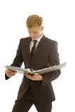Επιχειρηματίας με το φάκελλο Στοκ Φωτογραφία