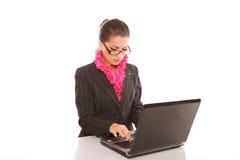 Επιχειρηματίας με το φορητό προσωπικό υπολογιστή Στοκ Φωτογραφία