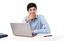 Επιχειρηματίας με το φορητό προσωπικό υπολογιστή Στοκ φωτογραφία με δικαίωμα ελεύθερης χρήσης