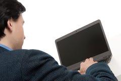 Επιχειρηματίας με το φορητό προσωπικό υπολογιστή Στοκ εικόνα με δικαίωμα ελεύθερης χρήσης
