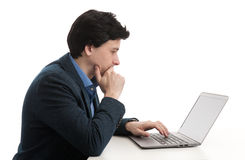 Επιχειρηματίας με το φορητό προσωπικό υπολογιστή Στοκ Φωτογραφίες
