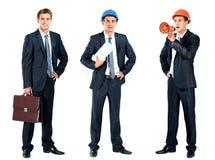 Επιχειρηματίας με το χαρτοφύλακα Στοκ εικόνα με δικαίωμα ελεύθερης χρήσης