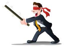 Επιχειρηματίας με το χτύπημα απεικόνιση αποθεμάτων