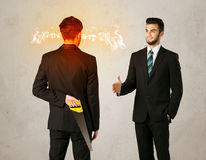 0 επιχειρηματίας με το όπλο Στοκ φωτογραφία με δικαίωμα ελεύθερης χρήσης