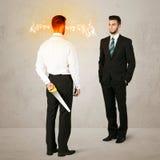 0 επιχειρηματίας με το όπλο Στοκ Εικόνες