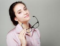 Επιχειρηματίας με eyeglasses Στοκ Φωτογραφία
