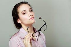 Επιχειρηματίας με eyeglasses Στοκ Εικόνες