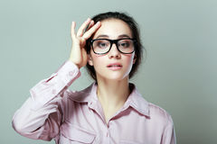 Επιχειρηματίας με eyeglasses Στοκ φωτογραφίες με δικαίωμα ελεύθερης χρήσης