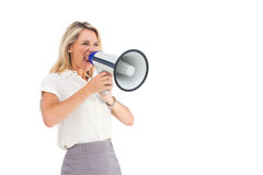 Επιχειρηματίας με megaphone Στοκ φωτογραφίες με δικαίωμα ελεύθερης χρήσης