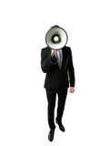 Επιχειρηματίας με megaphone Στοκ εικόνα με δικαίωμα ελεύθερης χρήσης