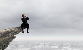 Επιχειρηματίας με megaphone Στοκ φωτογραφία με δικαίωμα ελεύθερης χρήσης