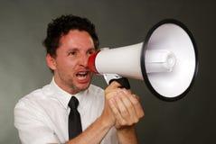 Επιχειρηματίας με megaphone Στοκ Φωτογραφίες