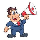 Επιχειρηματίας με megaphone Στοκ εικόνες με δικαίωμα ελεύθερης χρήσης