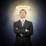 Επιχειρηματίας με Nimbus στοκ φωτογραφία με δικαίωμα ελεύθερης χρήσης