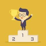 Επιχειρηματίας νικητών απεικόνιση αποθεμάτων