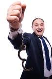 επιχειρηματίας που δένε&tau στοκ φωτογραφία με δικαίωμα ελεύθερης χρήσης