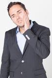 Επιχειρηματίας που έχει τον πονόδοντο Στοκ φωτογραφία με δικαίωμα ελεύθερης χρήσης
