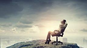 Επιχειρηματίας που έχει το υπόλοιπο στην καρέκλα Στοκ Εικόνα