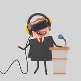 Επιχειρηματίας που δίνει μια συνεδρίαση για pulpit Στοκ Εικόνα