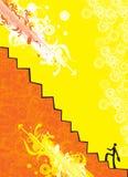 επιχειρηματίας που αναρριχείται στο σκαλοπάτι απεικόνιση αποθεμάτων
