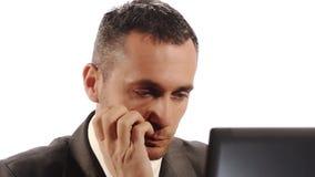 επιχειρηματίας που ανησυχείται απόθεμα βίντεο