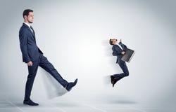 Επιχειρηματίας που απολύεται νέος από τον προϊστάμενο Στοκ Εικόνα
