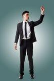 Επιχειρηματίας που γράφει ή που σύρει στοκ φωτογραφίες
