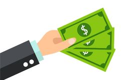 Επιχειρηματίας που δίνει το διάνυσμα χρημάτων Στοκ φωτογραφία με δικαίωμα ελεύθερης χρήσης