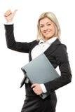 επιχειρηματίας που δίνε&iot Στοκ εικόνα με δικαίωμα ελεύθερης χρήσης