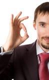 επιχειρηματίας που δίνε&iot Στοκ Εικόνα