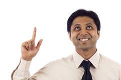 επιχειρηματίας που δείχνει επάνω Στοκ φωτογραφία με δικαίωμα ελεύθερης χρήσης
