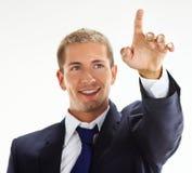 Επιχειρηματίας που δείχνει επάνω Στοκ Φωτογραφία
