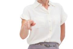 Επιχειρηματίας που δείχνει κάτι με το δάχτυλο Στοκ φωτογραφία με δικαίωμα ελεύθερης χρήσης