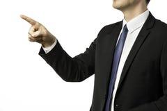 Επιχειρηματίας που δείχνει με το δάχτυλό του Στοκ Εικόνες