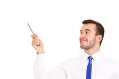 Επιχειρηματίας που δείχνει σε κάτι με μια μάνδρα Στοκ εικόνα με δικαίωμα ελεύθερης χρήσης